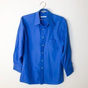 Geoffrey Beene Men's Royal Blue Long Sleeve Shirt